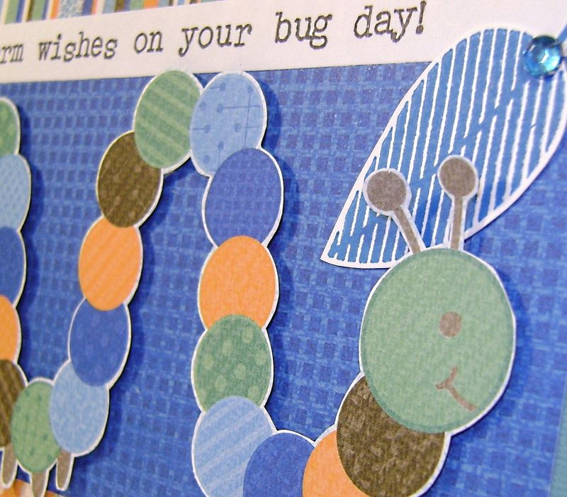 Worm wishes Card close up2