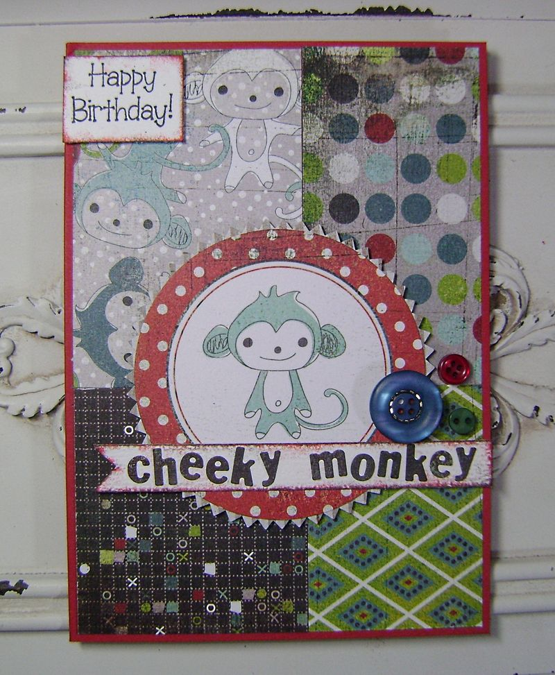 Oliver Cheeky Monkey Card